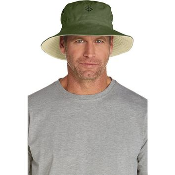 Coolibar UPF 50+ Men's Reversible Bucket Hat