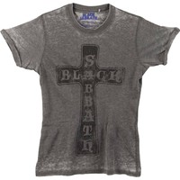 Black Sabbath Men's  Vintage Cross Vintage T-shirt Charcoal