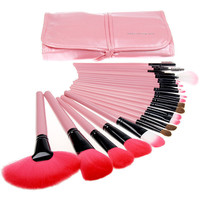 24 PCs Naked Makeup Brush Set (Pink)