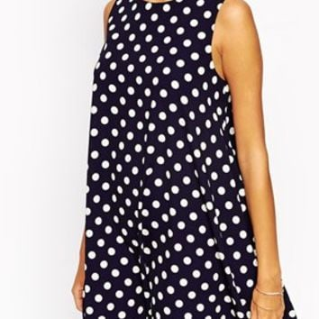 Love Spot Print Shift Dress