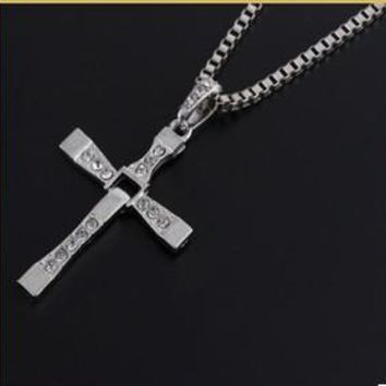 Exclusive Vin Diesel - Dominic Toretto's Fast and Furious Crystal Cross Pendent Necklace. Two Different Colors for Women and Men.