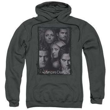 Vampire Diaries - So Here We Are Adult Pull Over Hoodie Officially Licensed Apparel