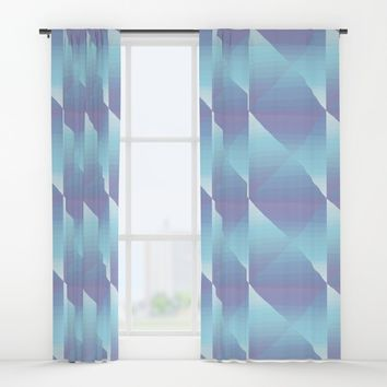 Soft Jewel Cut Pattern Window Curtains by MidnightCoffee