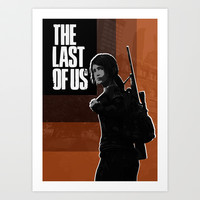 The Last of Us ELLIE poster Art Print by MixPosters