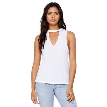 Cut It Out Tank in White