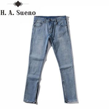 Kanye West Men's Jeans Zipper Jeans Casual Jeans Men Male Denim Justin Bieber Jeans Homme Hip Hop Men Pants Stretch
