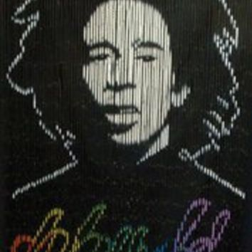 Magic Passage ~ Bob Marley ~ Bamboo Door Curtain ~ Hand Painted ~ 36 x 79 Inches