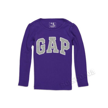 Baby Gap Long Sleeve Logo Shirt Purple