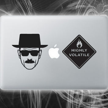 Breaking Bad inspired walt vinyl sticker