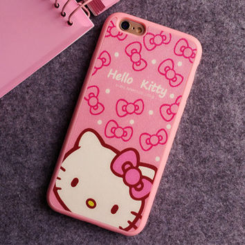 Hello Kitty Bows Phone Case For iPhone 7 7Plus 6 6s Plus 5 5s SE