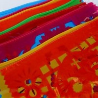 Mexican Papel Picado Banner, Party Banner, Halloween, Mexican Party Decor, Made From Lightweight Plastic