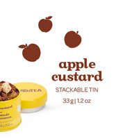 Apple Custard Stackable Tin - Sweet Blend Of Apples, Golden Raisins And Honey-Scented Chamomile In A Stackable Tin | DAVIDsTEA