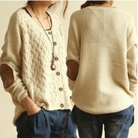 Fashion irregular cardigan sweater