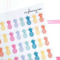 Mini Pineapple Planner Stickers- 48 count