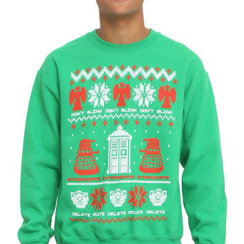 Doctor Who Ugly Holiday Sweater Sweatshirt