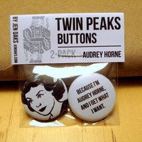 Twin Peaks Buttons: Audrey Horne