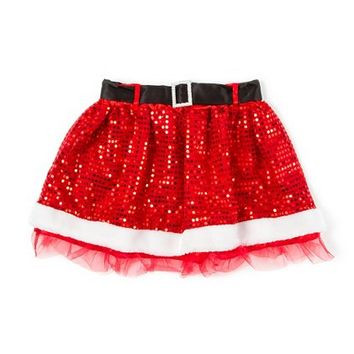 Sequin Santa Skirt  | Claire's