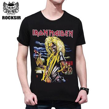 T shirt Men Fashion 2017 Iron Maiden 3D Print T shirt Brand Clothing anime Iron Man Hip Hop Men's T-shirts Mens Cotton Casual