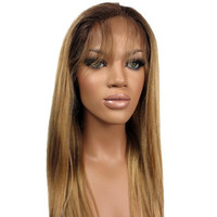 8A Grade Glueless Ombre Straight #4/#27/#613 Blonde Human Hair Wig