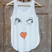 Baby Face Tank Top Hipster tank top Tank top women Fitness top Summer Cloth Gift Summer fashion tshirt Vintage tank tops for woman