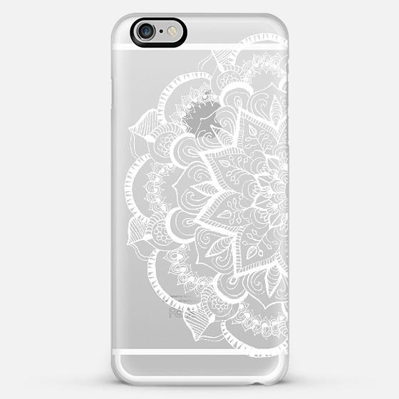 White Feather Mandala On Clear Iphone 6 From Casetify Iphone