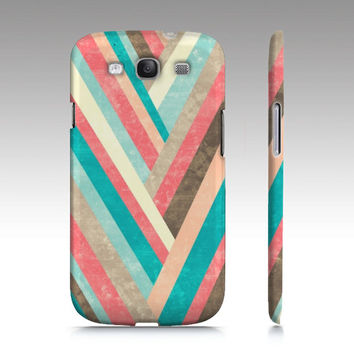 Galaxy S3 case, Galaxy S4 case, geometric case, trendy phone cases, colorful geometric art, coral, aqua, pink, brown art for your phone