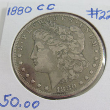 1880cc Silver Dollar Antique Coins 1880 Morgan Dollar 1880 cc USA Silver Coins Antique US Carson City Coin Silver US Currency Rare Coin