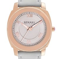 Sperry Top-Sider 'Summerlin' Laced Leather Strap Watch, 38mm