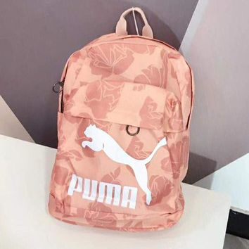 PUMA Classic Fashionable Woman Men Daypack Bookbag Travel Backpack Pink
