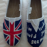 "One Direction ""If I'm Louder Would You See Me"" Custom Imitation TOMS"