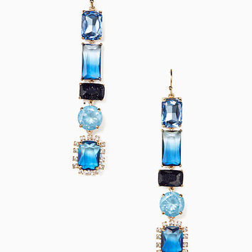 color crush linear earrings