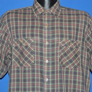 80s Sears Sporstwear Short Sleeve Button Down Shirt Large