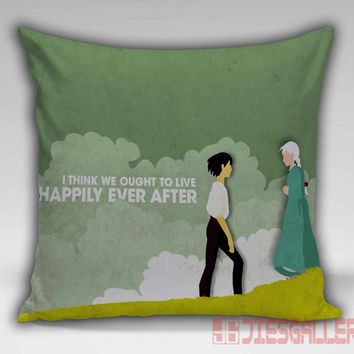 Howl's Moving Castle Quotes Throw Pillow for the Home Decor
