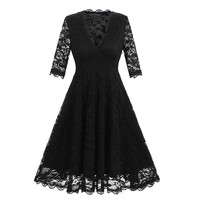 Lace Long Skater Dress for Party