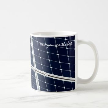 Solar power panel coffee mug