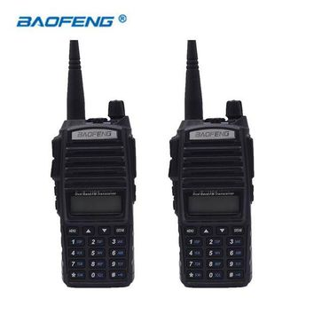 ONETOW 2 PCS Baofeng UV-82 Walkie Talkie HAM Radio Dual Band Two 2 Way Portable Transceiver VHF UHF UV 82 DMR Radios Handy Communicator