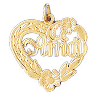 14K GOLD SAYING CHARM - AMOR #10233