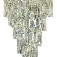 Adrienne - Hanging Fixture No Neck (29 Light Modern Grand Crystal Chandelier) - 1531SR48