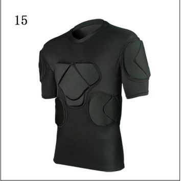 2018 New men skateboarding t shirt american football soccer shirts goalkeeper jerseys chest vest protection sports safety