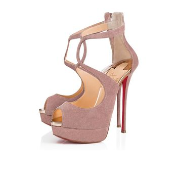 Rosie Alta 150 Antic/Blush 1 Suede - Women Shoes - Christian Louboutin