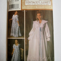 Simplicity Sewing Pattern 5188 Nightgown Robe Theresa Nordstrom Vintage Closet Turn of the Century Romantic Size 6 8 10 12 14 16 UNCUT