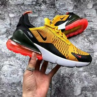 NIKE Air Max 270 Hot Sale Trending Men and Women Fashion Splicing Color Sneakers B-CSXY / B-CQ-YDX  Black/Orange