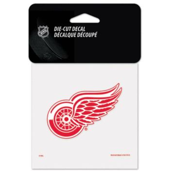 V0NE05TF NHL Detroit Red Wings 4x4 Red Die Cut Decal