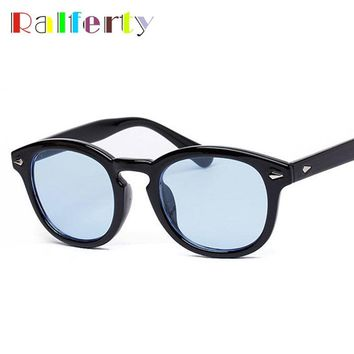 0450104e85 Ralferty Vintage Johnny Depp Sun Glasses Frame Retro Brand Oliver Peoples  Sunglasses Men Women Transparent Goggles
