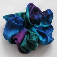 Jewel Tone Silk Scrunchie