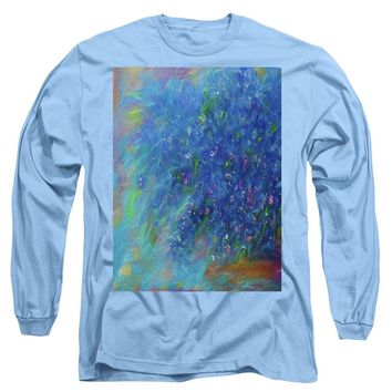 Blue Flowers Abstract - Long Sleeve T-Shirt