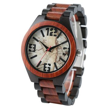 Natural Wood Casual Men's Wrist Watch | 100% Real Bamboo