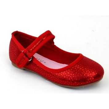 Infants Sequin Flats, Red