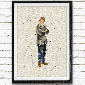 Doctor Watson Watercolor Print, Sherlock Baby Nursery Room Art, Minimalist Home Decor Not Framed, Buy 2 Get 1 Free!