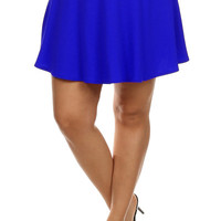 Pleated Tennis Skirt - Blue - Plus Size - 1X - 2X